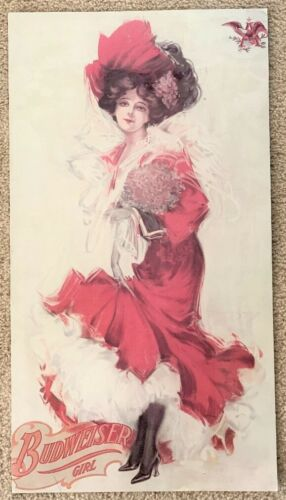 Large Vintage Budweiser Girl Poster - 1890