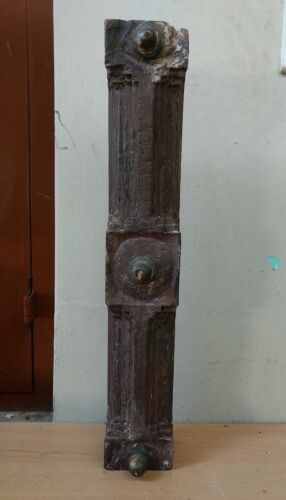Antique Wall Panel Door Beam Wooden panel w Knob Ancient Estate Decor Bracket US