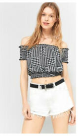 Pin and Needles off shoulder women's top (large )