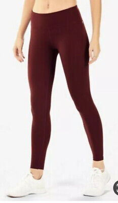 Fabletics Mid Rise cold Weather Womens Legging Marron Size L NWT$79.95