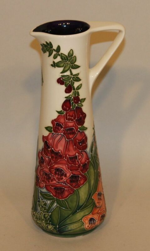 2002 Moorcroft Art Pottery 9-1/2 Inch Amberwood Ewer Signed Rachel Bishop