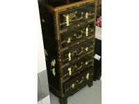 Hand painted oriental chest
