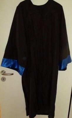 Robe Talar Amtstracht Richter Anwalt Absolvent Kostüm Karneval - Schwarze Richter Robe Kostüm