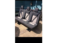 Van triple rear seat with integrated seat belts Transit/T5/Vito/sprinter