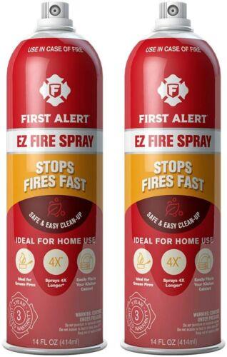 First Alert Fire Extinguisher EZ Fire Spray Fire Extinguishing 2-Pack