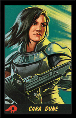 THE MANDALORIAN SEASON 2 CARA DUNE 13x19 FRAMED GELCOAT DISNEY STAR WARS GROGU