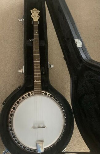 Mint Original 1948 Gretsch Banner Blue Banjo with White Pearl headpiece + Case