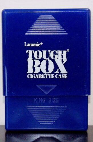 Laramie Tough Box Crush-Proof Plastic 2 Piece Blue Cigarette Case King & 100s