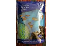 Blue green gravel aquarium fish