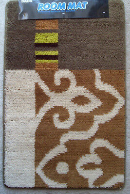 Rubber Back MULTI-color Contemporary Door Mat Rug RECTANGLE