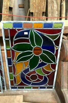 Coloured Stained Glass Window Panel