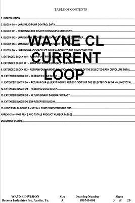Wayne Current Loop Cl Communication Protocol For Wayne Dresser Dispensers