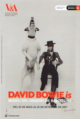 DAVID BOWIE is. 2017 V&A Exhibition Flyer Barcelona. Diamond Dogs (Small). Mint.