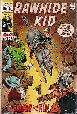 RAWHIDE KID #78 (1970) Marvel Comics western VG+