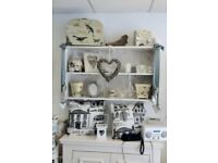 Lovely shabby chic wall shelving unit