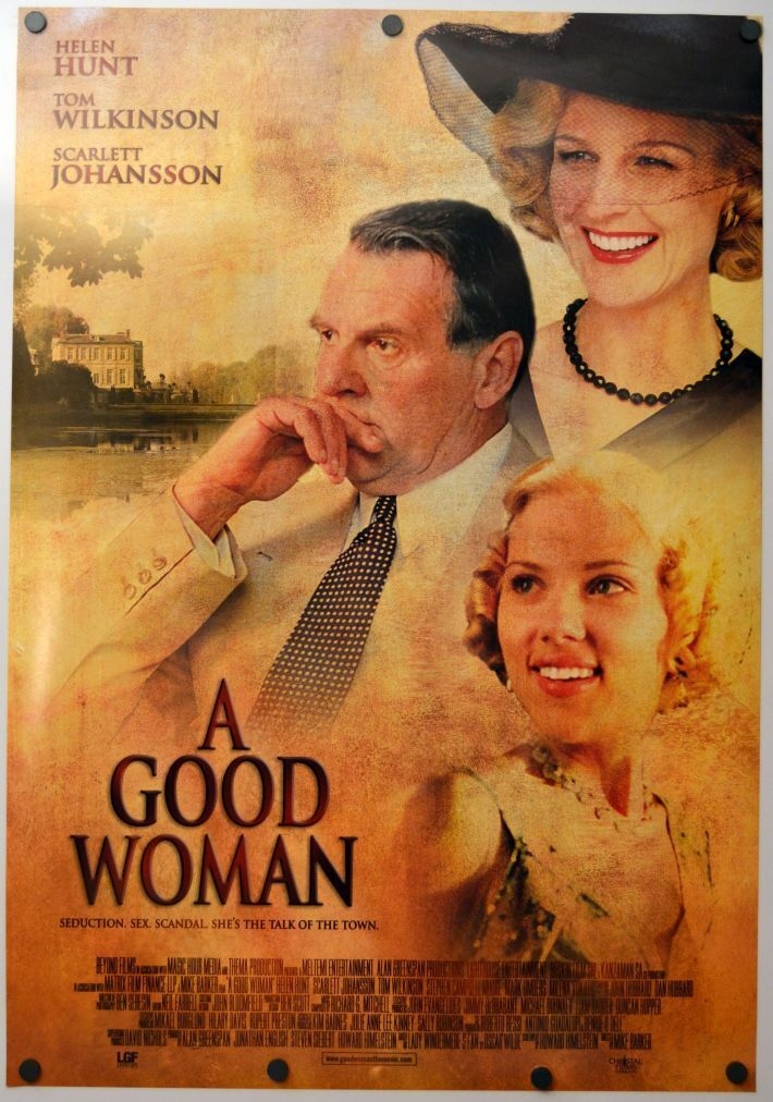 A good woman - original ds movie poster  d/s 27x40 scarlett johansson rare