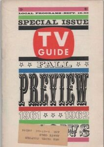 TV GUIDE 1961-1962 FALL PREVIEW free shipping