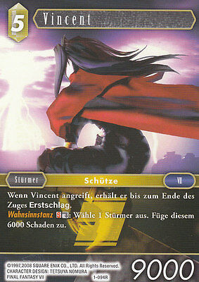 Vincent (1-094R) Final Fantasy TCG Opus I  Deutsch  NEU TopMint