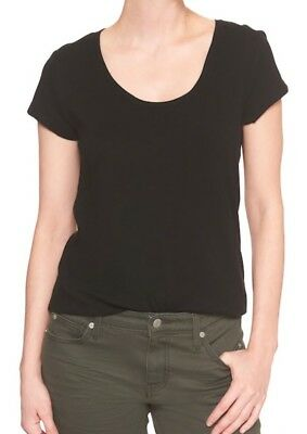 Gap Easy Scoopneck Pocket T Shirt Women`s Short Sleeve Tee Black Top Blouse NWT  Black T-shirt Top Tee