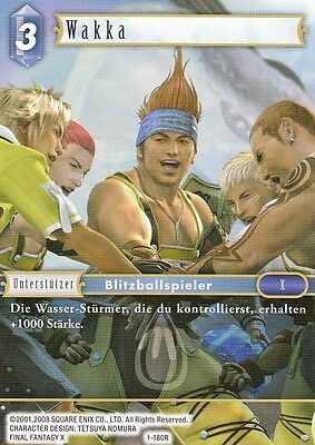 Wakka (1-180R)  Final Fantasy TCG Opus I  Deutsch  NEU TopMint