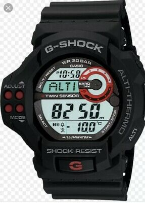 Casio Vintage Collection G Shock Gdf-100-1aer Twin Sensor Rare Watch Montre Rare