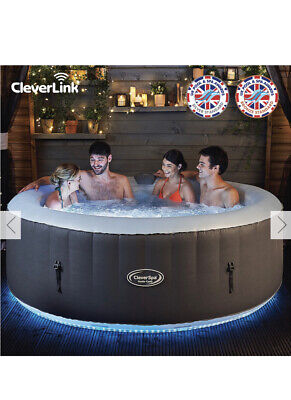 Cleverspa Monte Carlo 6 Person Inflatable Hot Tub With Leds & Clever Link App