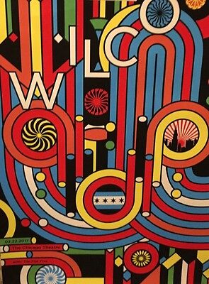 Wilco Nate Duval Chicago Theater February 22 show print Tweedy