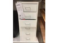 White IKEA Helmer Drawers