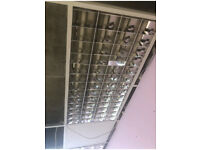 5 * Office Light Fitting for Suspended Ceiling 1200mm X 600mm - (4 X 36W Tubes)