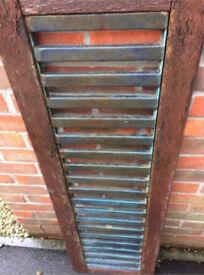 Cast iron bench back Or garden trellis