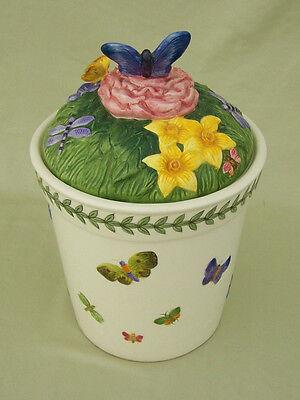 Portmeirion Cookie Jar (Portmeirion Botanical Garden Countertop Series Cookie Jar/Butterflies)
