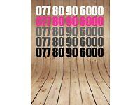 Gold Mobile Phone Sim Card PAYG Platinum Number 07780 90 6000