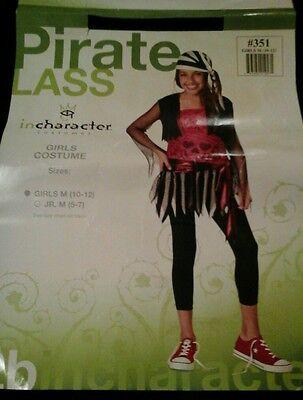 Tween Kinder Punk Piraten Outfit Mädchen Halloween Kostüm (Mädchen Piraten Outfit)