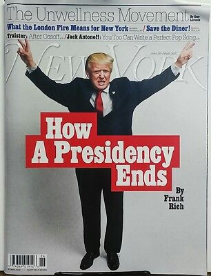 New York June 26 July 9 2017 How A Presidency Ends Donald Trump FREE SHIPPING sb
