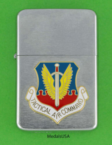 TAC TACTICAL AIR COMMAND WIND PROOF PREMIUM LIGHTER IN A GIFT BOX  USAF SB04