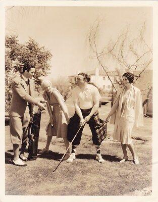 VIRGINIA BRUCE BUDDY ROGERS Original CANDID Golf Vintage 1930 Paramount Photo