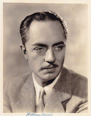 WILLIAM POWELL Original Vintage 1934 FRYER Portrait Photo MANHATTAN MELODRAMA