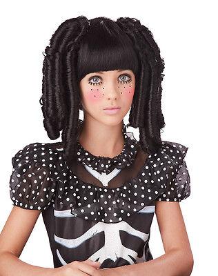 Gothic Dark Baby Doll Curls Child Costume Wig - Black - Baby Gothic
