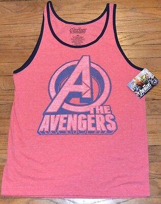 Marvel Avengers Assemble Tank Top Men's Sleeveless T-Shirt Logo Style Ringer Tee