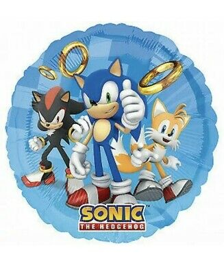 """2 Pc. Sonic the Hedgehog 18"""" Foil Mylar  Balloon Party"""