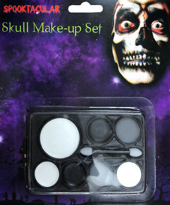 Day of the Dead Skull Make Up Set Halloween Scary Tattoo Sugar Skull Fancy Dress