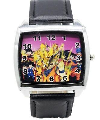 Dragon Ball Z Group Black Leather Band WRIST WATCH