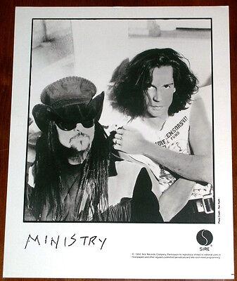 Ministry 8x10 B&W Press Photo Sire Records 1992 Al Jourgenson
