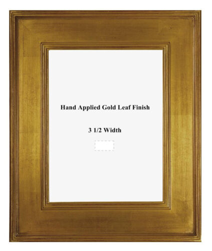 18 x 24  Arts & Crafts Style Picture Frame HandApplied Gold Metal Leaf