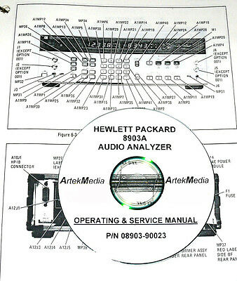 Hp 8903a Audio Analyzer Operating Service Manual