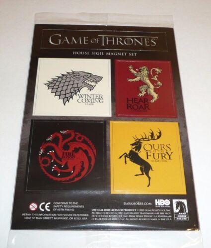 Game of Thrones Fridge Magnet Set House Stark Lannister Targaryen Sigils HBO