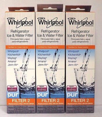 Honest Whirlpool Refrigerator Ice & Water Filter FILTER 2 W10413645A LOT OF 3