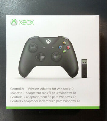 Microsoft Xbox One Wireless Controller Lote Con / Adaptador Para PC Nuevo