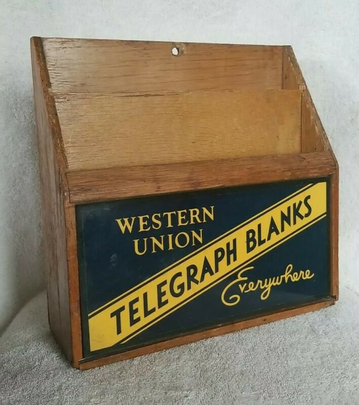 Western Union Telegraph Blanks Counter Display