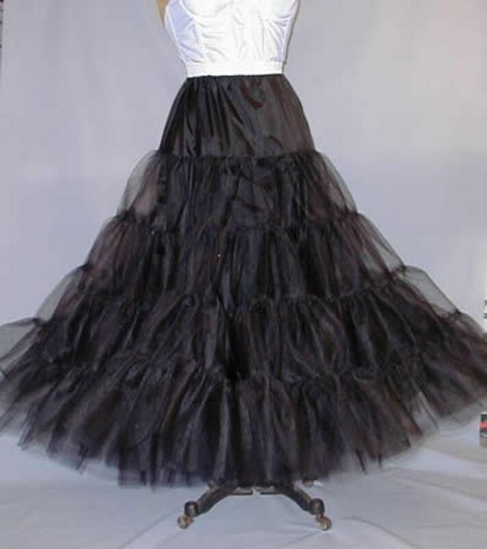 Black Full Wedding Bridal Petticoat Costumes Slip